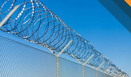 barbed and razor wire fencing